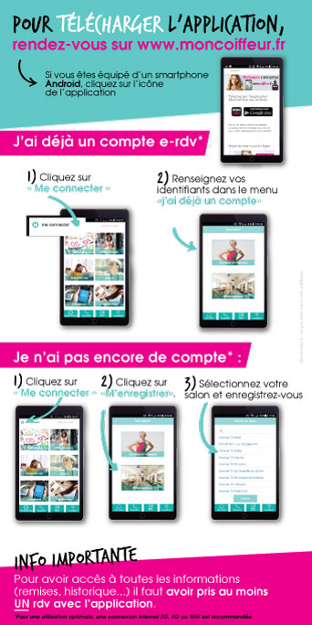 Application mobile coiffeur